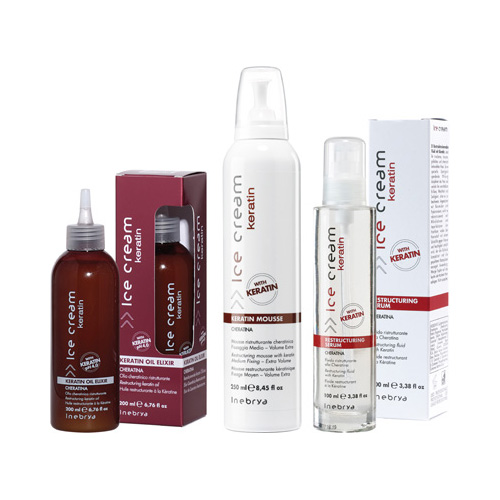 ICE CREAM KERATIN - mousse, serum, oil elixir